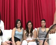 Group Of Clothed Women Play With Cocks - scene 7