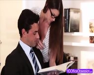 Sexy Secretary Brooklyn Chase Revelas Her Lacy Lingerie And Perky Soft Butt - scene 1