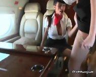 Attendants Ariella And Aimee Milk Passengers Cock - scene 2