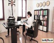 Secretary Valentina Nappi Arrives At The Office Wet All Over - scene 3
