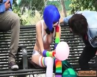 Stranded Party Clown Mikayla Mico Screwed Up In Public - scene 1