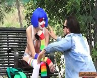 Stranded Party Clown Mikayla Mico Screwed Up In Public - scene 2