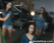 College Sorority Pledges Getting Undressed In Warehouse - scene 1