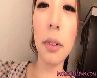 Japanese Mom Hina Akiyoshi Tastes Cum - scene 1