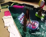 Great Group Anal Fun By The Swimmingpool - scene 2