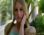 Teen Blonde Suck Facial - scene 1