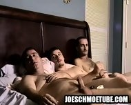 Three Amateur Hunks Tugging On Their Hard Cocks - scene 9