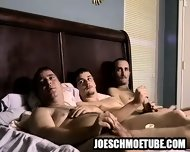 Three Amateur Hunks Tugging On Their Hard Cocks - scene 4