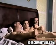 Three Amateur Hunks Tugging On Their Hard Cocks - scene 5