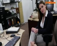 Sexy Business Woman Banged By Pawnkeeper To Earn Money - scene 3