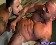 Gay Tattooed Mature Hunks Bathtime Fun - scene 12