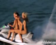 Badass Babes Likes Topless Jetski Action That They Enjoyed - scene 3