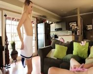 Skinny Blonde Cheerleader Carmen Callaway Nailed By Big Cock - scene 8
