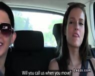 Lesbian Girlfriends Licking On The Backseat - scene 2