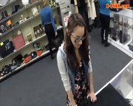 College Student Sells Her Books And Nailed At The Pawnshop - scene 1