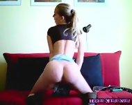 Hot Euro Teen Striptease - scene 4