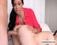 Horny Teen Jenna And Busty Milf Jewels Crazy Threeway - scene 8