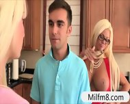 Nasty Stepdaughter Rikki Six Busted Her Bf Eating Milf Twat - scene 4