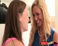 Big Boobs Milf Cherie Deville Teaching Teen Some Oral Action - scene 1