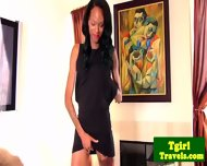 Dazia Kockdazian Ebony Tgirl Wanks - scene 1