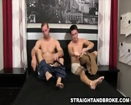 Straight Amateur Hunk Sucks On A Cock For Money - scene 3