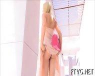 Busty Gal Masturbating - scene 4