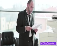 Horny Secretary Kyra Hot Gets Fuck At The Office By Her Coworker - scene 1