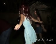 Outdoor Party With Two Amateur Hotties - scene 2
