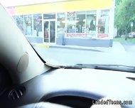Teen Hitchhiker Blowjob In Public Restroom - scene 5