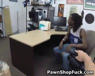 Fake Blonde Rides Dick In Front Of Her Husband In Pawn Shop - scene 1