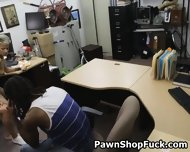 Fake Blonde Rides Dick In Front Of Her Husband In Pawn Shop - scene 10
