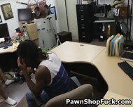 Fake Blonde Rides Dick In Front Of Her Husband In Pawn Shop - scene 3