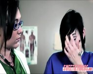 Dr Sinns Pervert Lesbian Fucking At The Clinic In Scissor Sex - scene 1