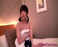 Tiny Japanese Babe Squirts When Toy Teased - scene 2