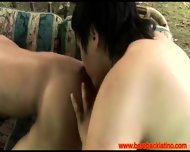 Latin Bareback Lovers Fisting Outdoors - scene 4