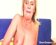 Sexy Blonde Gilf Teasing Pussy Fingering - scene 2