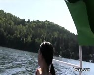 Group Of Czech Lesbians On Boat Having Oral Sex - scene 4