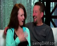 Brunette Babe And Her Husband Get Picked By Swingers Reality - scene 9