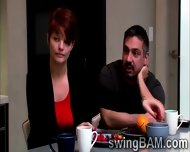 Brunette Babe And Her Husband Get Picked By Swingers Reality - scene 2