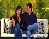 Brunette Babe And Her Husband Get Picked By Swingers Reality - scene 4