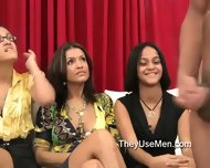Clothed Females Observe Male Jerking - scene 5