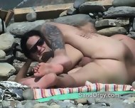 Hidden Camera Spies Sex On Public Beach - scene 1
