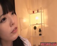 Two Japanese Girls Who Were In Their Uniforms Do Some Nasty Thing In The Bedroom - scene 9