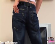 Sexy Amateur Lanza Teasing In Tight Blue Skinny Jeans - scene 2