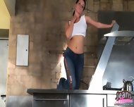 Sexy Amateur Lanza Teasing In Tight Blue Skinny Jeans - scene 4