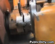 Pretty Blonde European Fucked In Public Repair Garage - scene 12