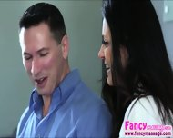 Brunette And Sexy India Summer Gives A Surprise To Her Husband - scene 1