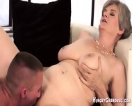 Licking A Real Horny Granny Snatch - scene 1