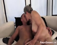 Licking A Real Horny Granny Snatch - scene 11