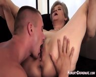 Licking A Real Horny Granny Snatch - scene 5